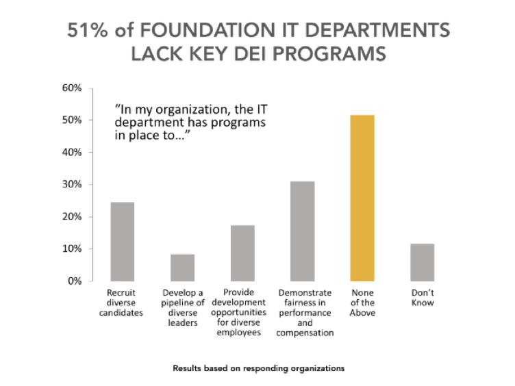51 percent of foundation IT departments lack key DEI programs.